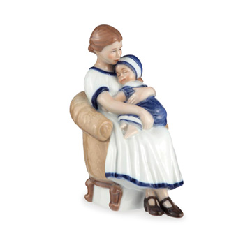 Statuetta Elsa con mamma in poltrona