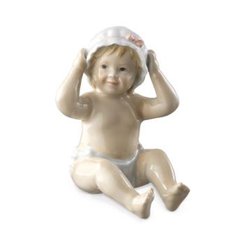 Statuetta Neonata con cuffietta