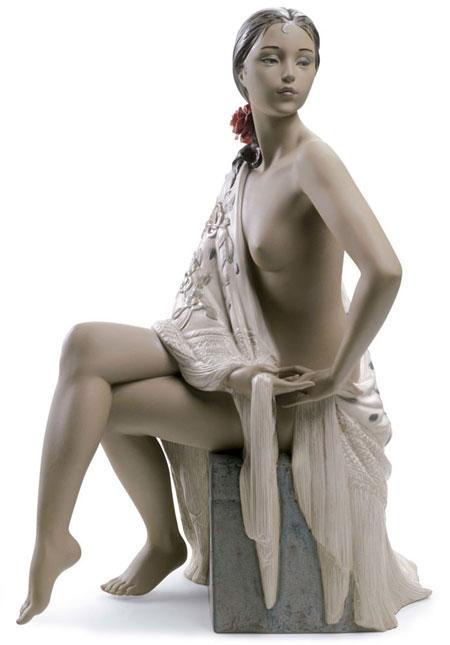 Statuetta Nudo con scialle