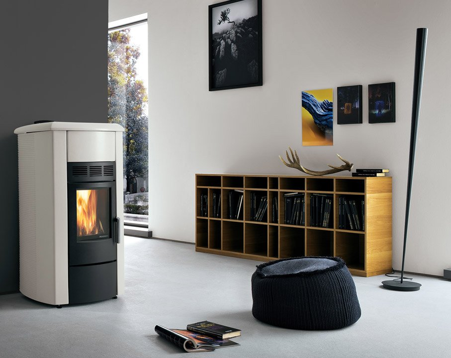 stufe stufa a pellet ecofire adele da palazzetti. Black Bedroom Furniture Sets. Home Design Ideas