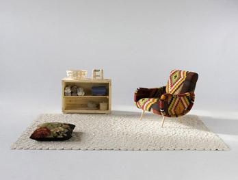 Teppich Spiral Elfenbein
