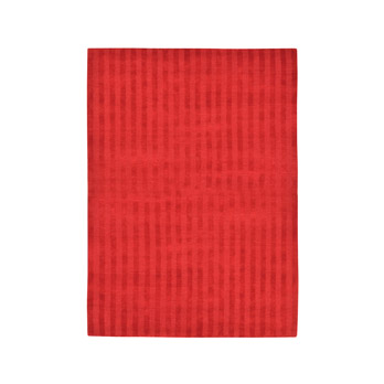 Rug Vertical Stripes Red