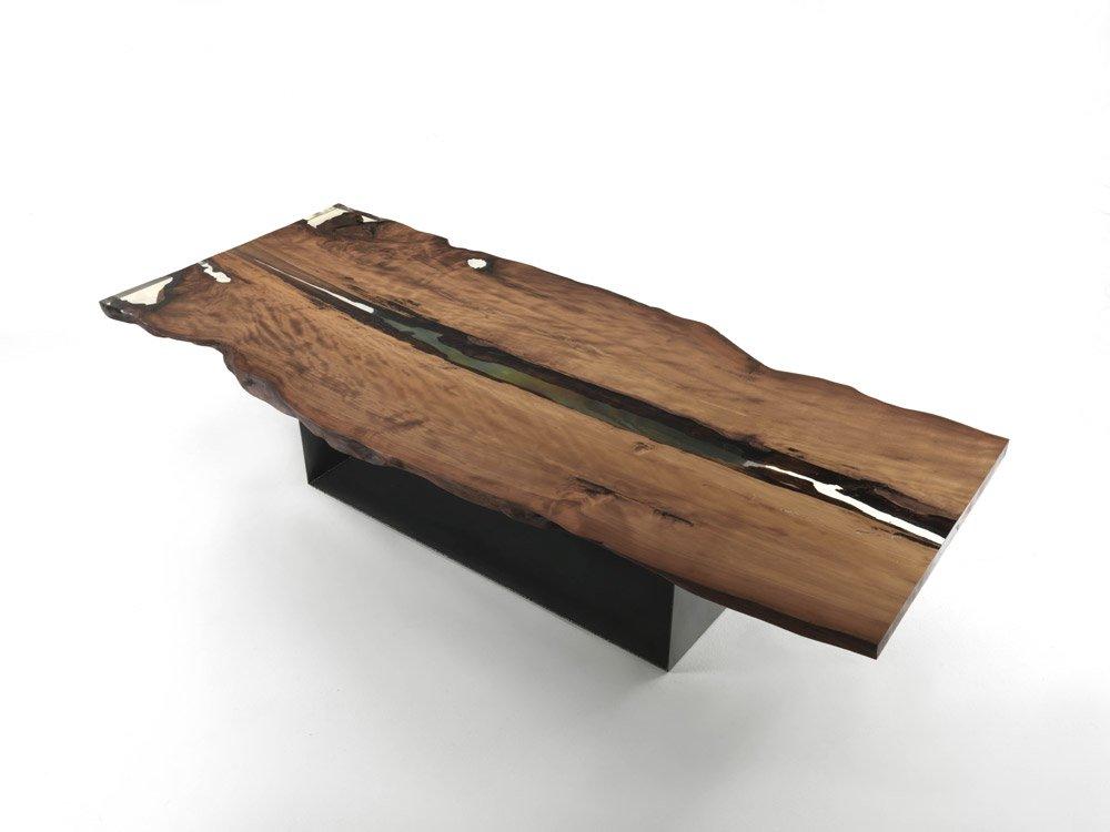 Tavoli tavolo cube da riva 1920 for Tavolo legno resina