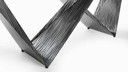 Tavolo Prisma 72 Steel