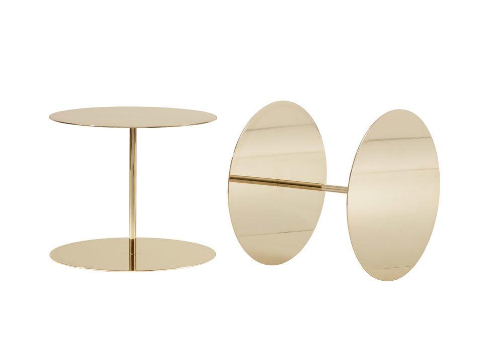 Cappellini beistelltische beistelltisch gong lux designbest for Messing beistelltisch katalog