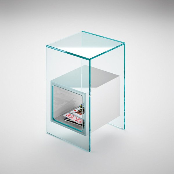 Small tables small table magique by fiam - Petite table en verre ...