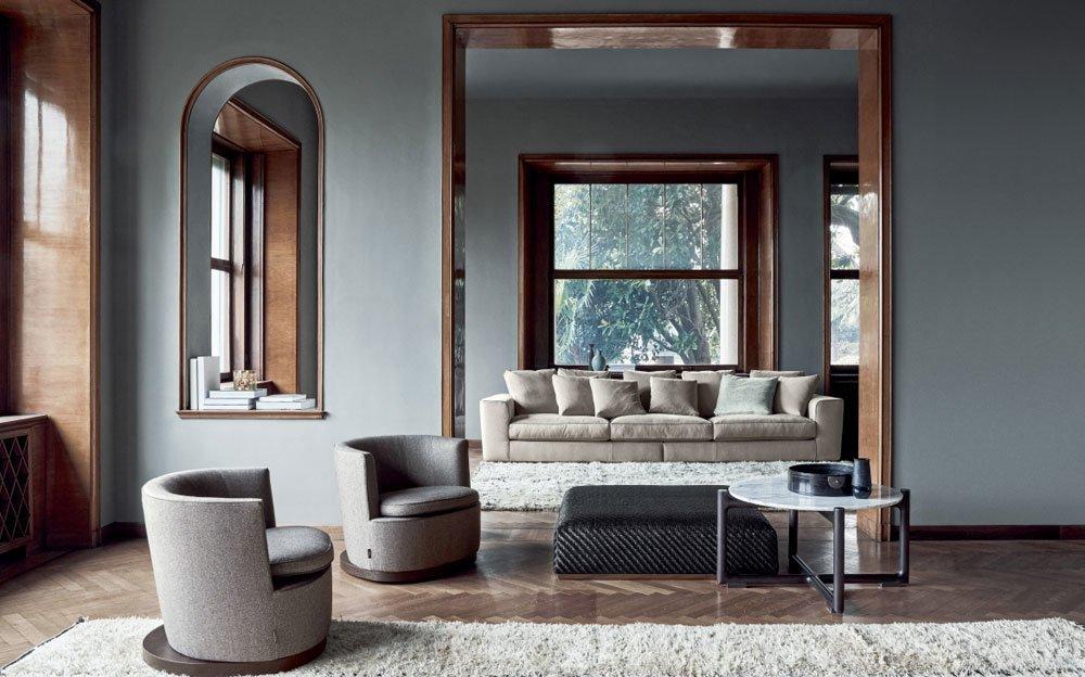 Small tables small table icaro by flexform mood for Fabricantes de muebles italianos