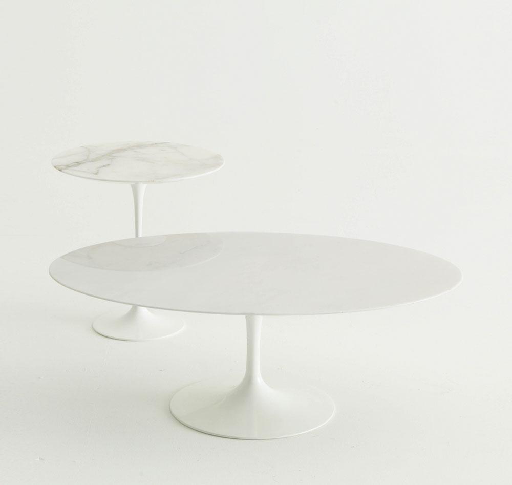 Knoll beistelltische beistelltisch saarinen designbest for Saarinen beistelltisch marmor