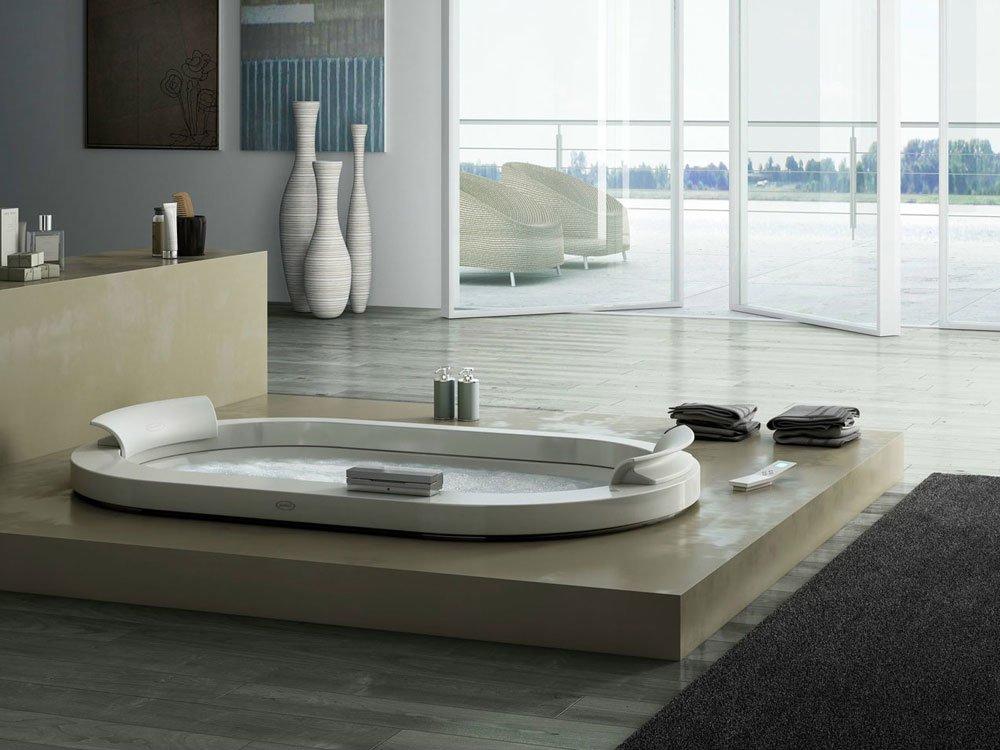 Vasche idromassaggio vasca idromassaggio opalia da jacuzzi - Vasche da bagno a incasso ...
