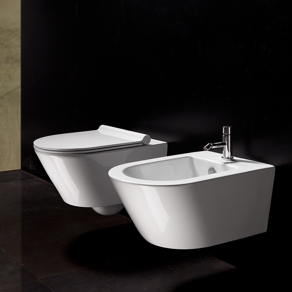 wc e bidet wc e bidet zero 55 da ceramica catalano. Black Bedroom Furniture Sets. Home Design Ideas