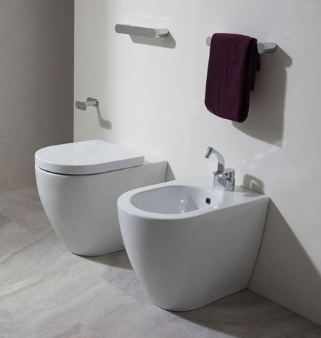 WC und Bidet Link Back To Wall