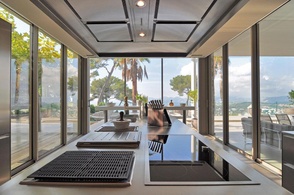 Cucine da sogno sulle colline di Cannes