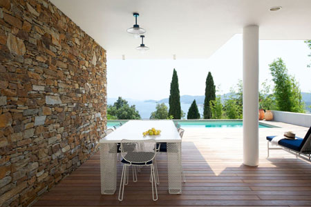 Outdoor life in a villa in the Cote d'Azur