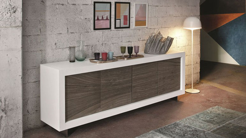 Picasso storage with a stone finish