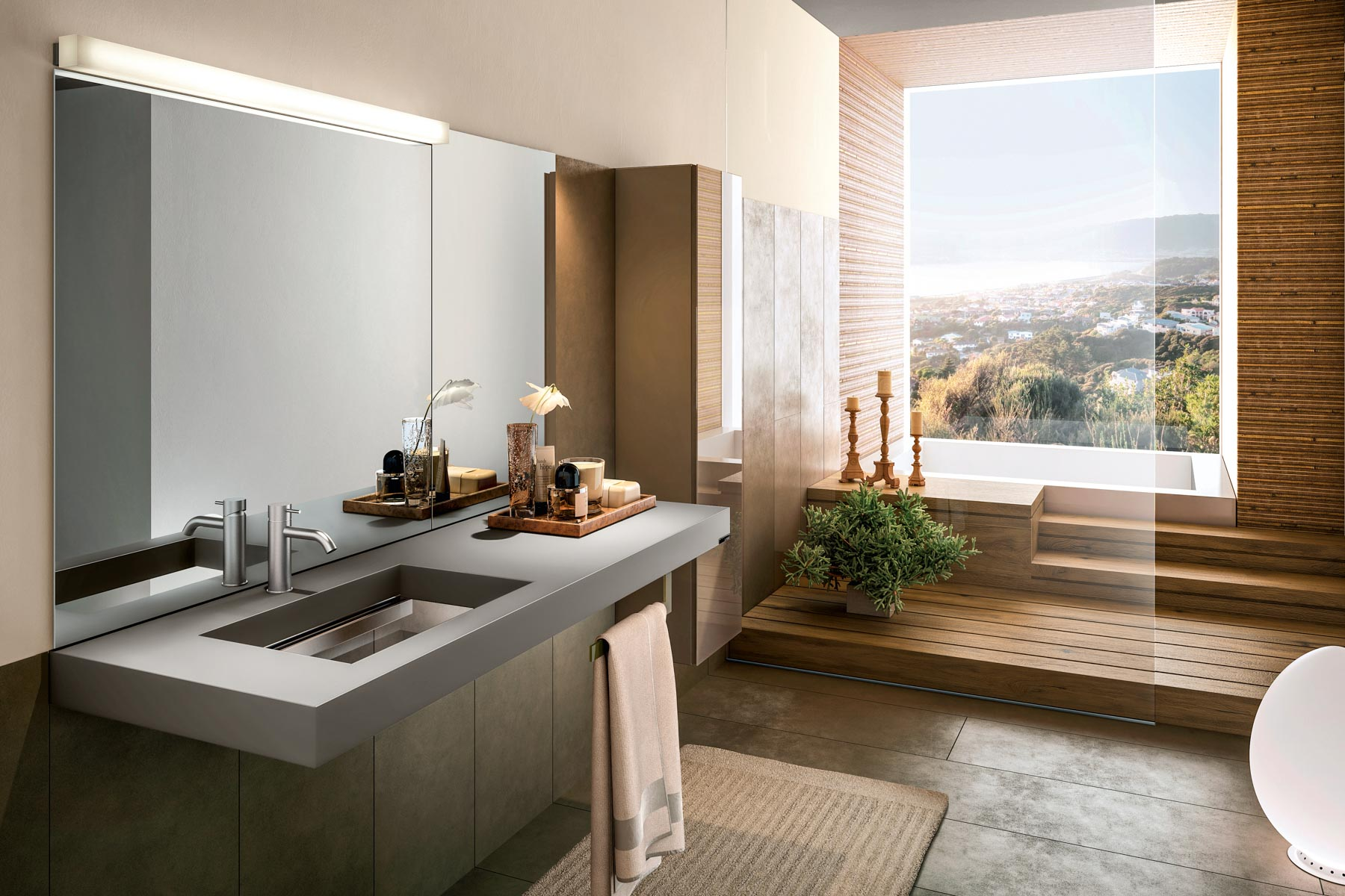 Bathroom - Depth washbasin