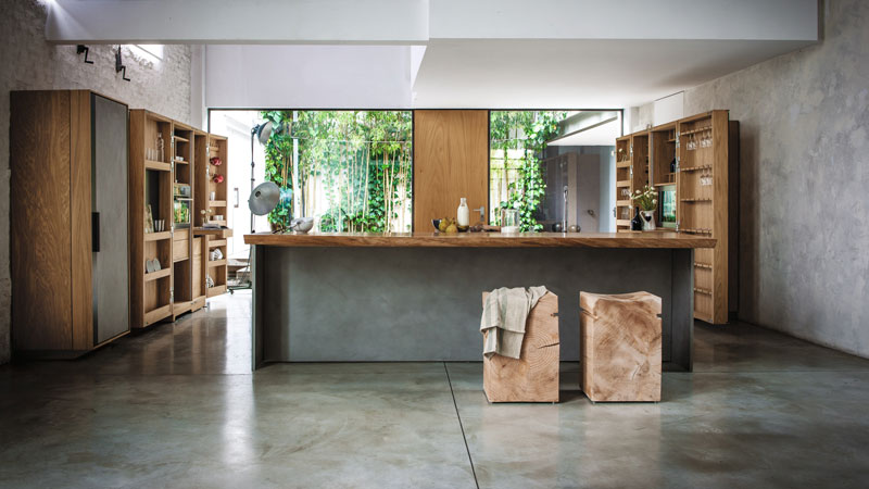 LIEU BRESCIA (IT) | LA CUISINE design Matteo Thun - NAPA BIG design Terry Dwan - CAMBUSA COOK&WINE design  Giuliano Cappelletti