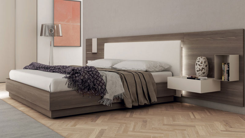Lit Bed45 en thermostructuré orme cortex NT