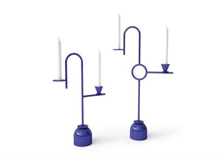 Portacandele Blue Candleholders