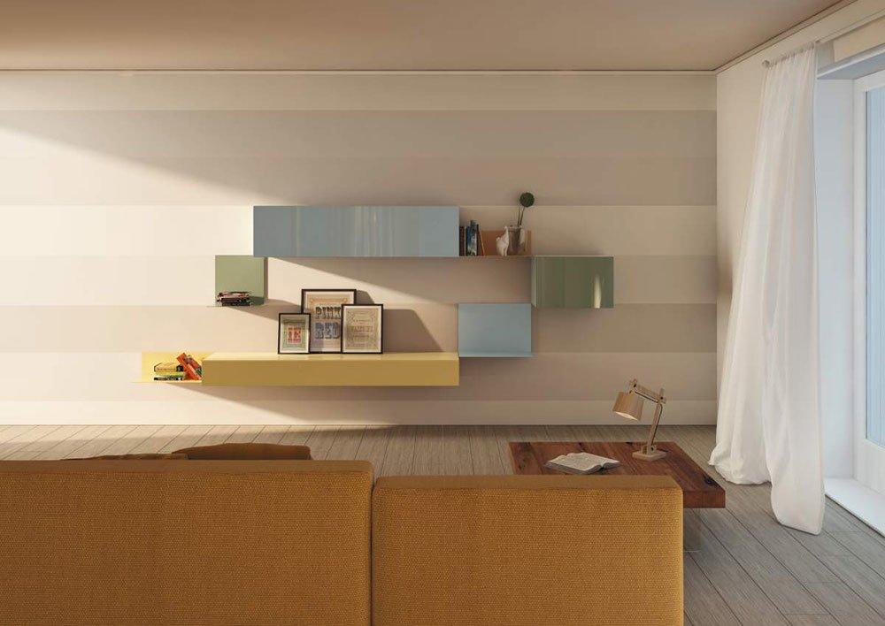 Composizioni soggiorno: Composizione 36e8 Storage da Lago