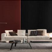 Divano white da minotti designbest for Divano quattro posti misure