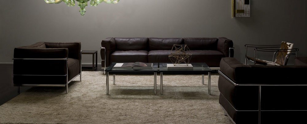 cassina drei sitzer sofas sofa lc3 designbest. Black Bedroom Furniture Sets. Home Design Ideas