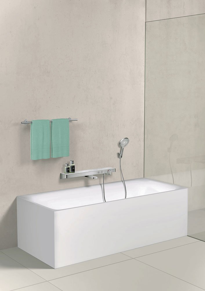 bath and shower shower fittings showertablet select 700 by hansgrohe. Black Bedroom Furniture Sets. Home Design Ideas
