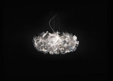 Luminaire Clizia Suspension Fumé
