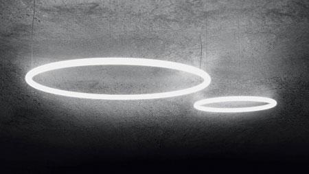 Lampada Alphabet of light circular