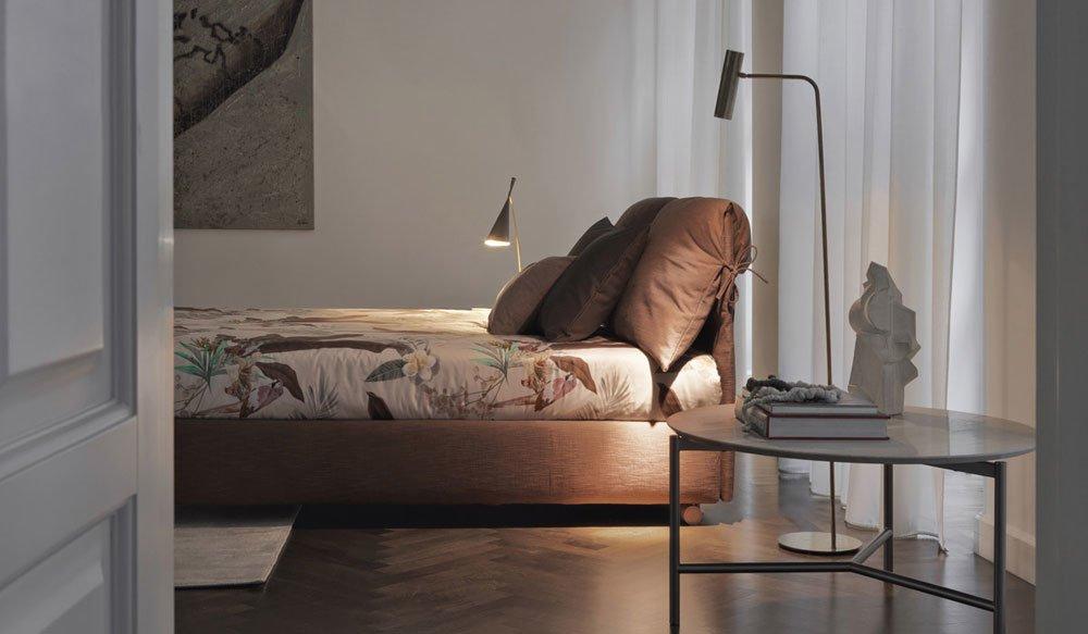 flou doppelbetten bett nathalie designbest. Black Bedroom Furniture Sets. Home Design Ideas
