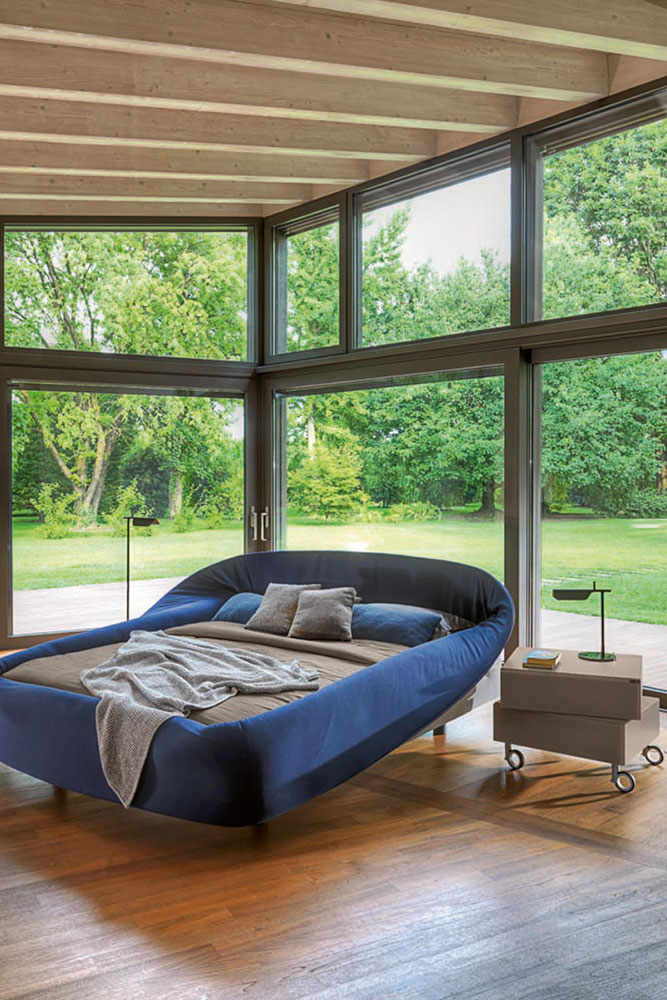 Double Beds Bed Colletto By Lago - Lago bed