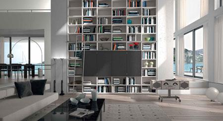 Librerie e scaffali tisettanta soggiorno catalogo designbest for Luca arredamenti torino