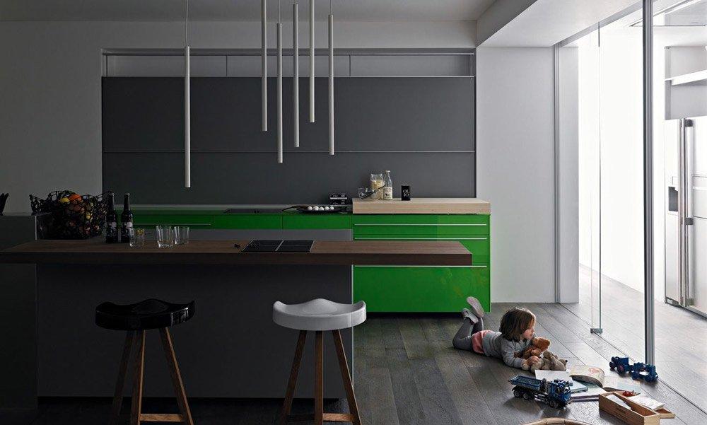 Modular Kitchens: Kitchen Artematica Vitrum [H] by Valcucine