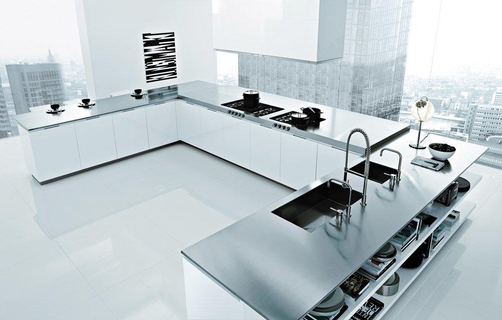 Cucine A Ferro Di Cavallo. Uno Specchio In Cucina With Cucine A ...