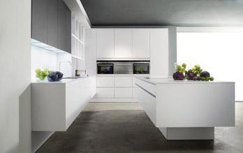 Küche Modern Laminat Reinweiss