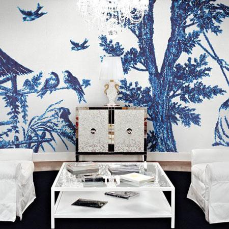 Mosaik Jardin Bleu