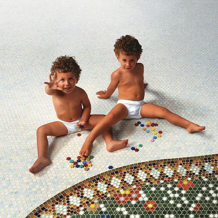 Mosaico Neoglass - Petit Fleurs