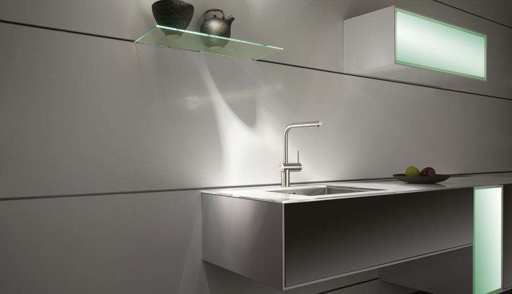 kwc armaturen f r die k che mischbatterie kwc livello. Black Bedroom Furniture Sets. Home Design Ideas