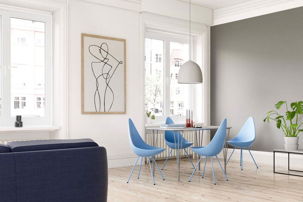 Chairs chair drop by fritz hansen for Sedie design north america
