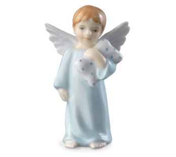 Statuetta Angelo con cuscino