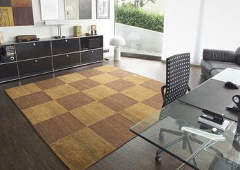 Teppich Chess Brown