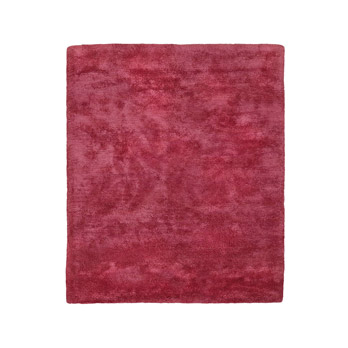 Tapis Solid high pile pink