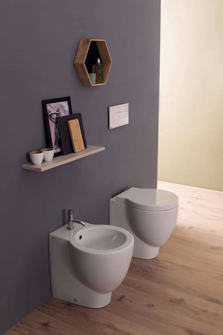 Wc and Bidet Bowl